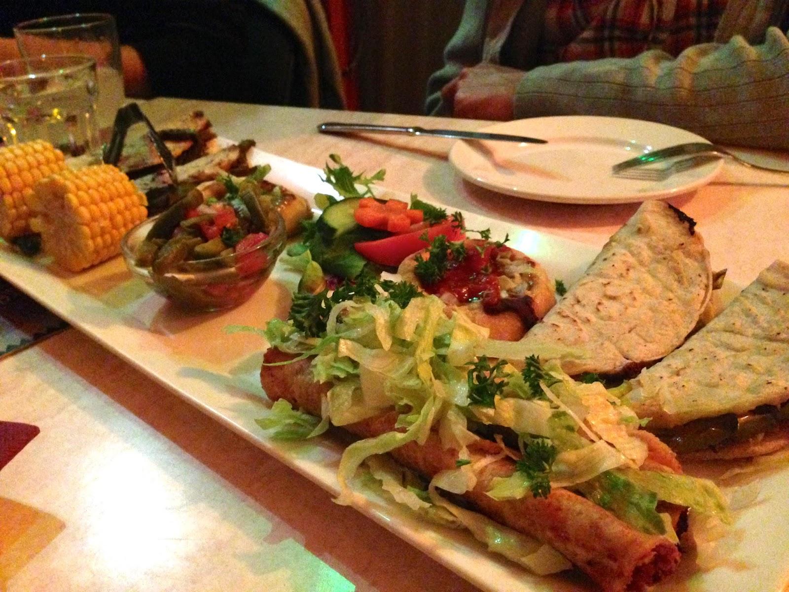 Los Amates, Fitzroy - Street food platter (vegan)