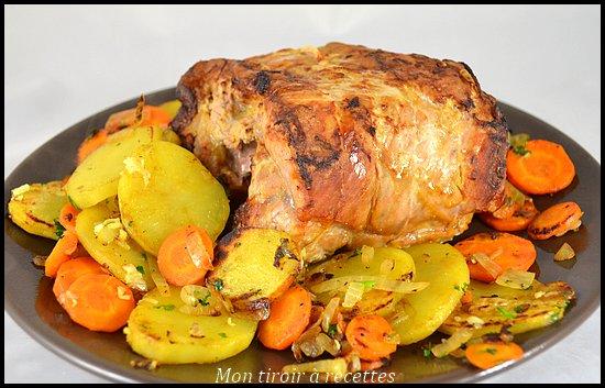 rôti porc sauge