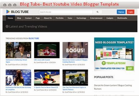 BLOG TUBE - BEST CUSTOMIZE YOUTUBE VIDEO BLOGGER TEMPLATE ~ Blogger ...