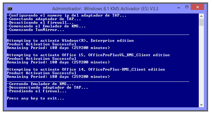 KMS Activator By C.C v.3.3 [Activador de win 8.1 y office 2013] [MG