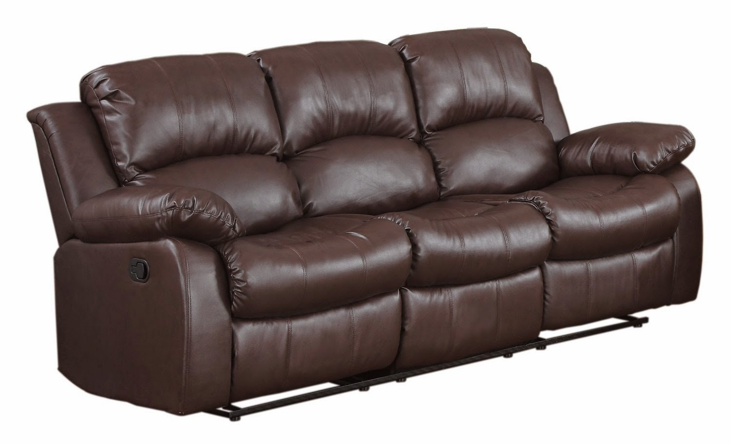 The best reclining leather sofa reviews loukas leather for Chaise and recliner