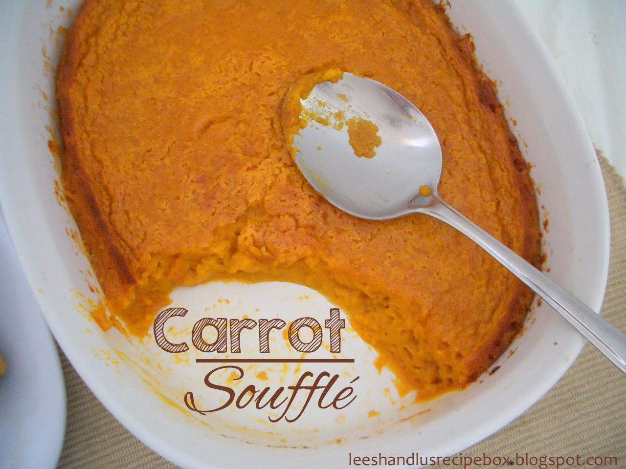 Carrot Soufflé {or Sweet Potato Soufflé} | From Leesh and Lu's Recipe Box