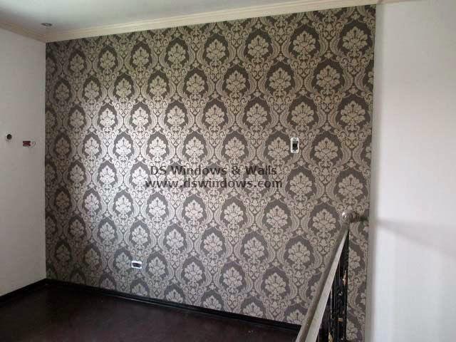 Patterned Wallpaper As Accent Wall For Loft Room - Pilar Village, Las Piñas