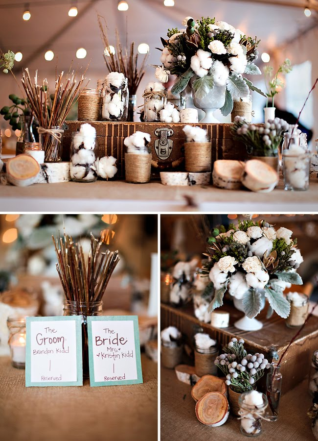 rustic-chic-wedding-table-setting.jpg & Chic Rustic Wedding Decor Photograph | rustic-chic-wedding-t