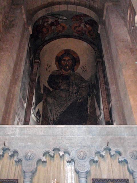 Православная икона в грузинском храме