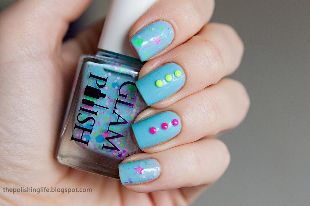 Born Pretty Store Neon Studs + Glam Polish Neon Nubs