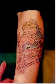 Cartoon Angel Tattoos