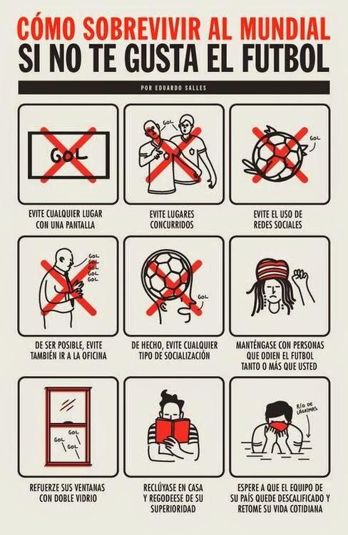 Cómo sobrevivir al mundial si no te gusta el futbol