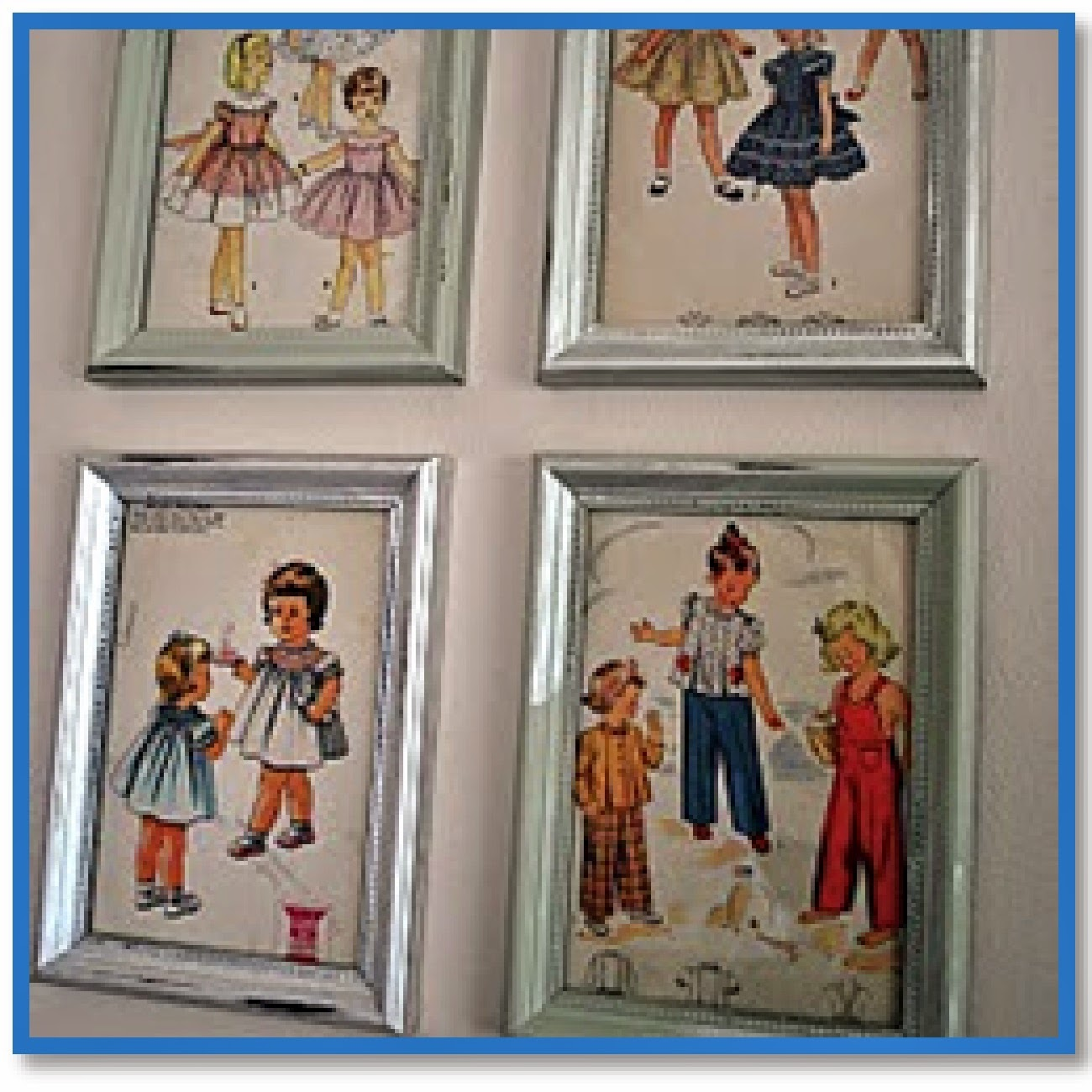 wall art made from sewing patterns