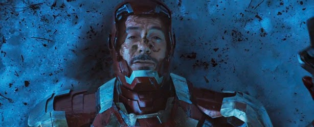 Robert Downey Jr. as Tony Stark aka Iron Man in the film Iron Man 3
