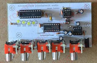 Automatyczny przełącznik audio - widok z góry