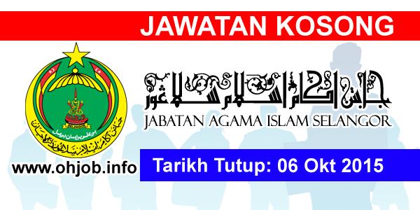 Jawatan Kerja Kosong Jabatan Agama Islam Selangor (JAIS) logo www.ohjob.info oktober 2015