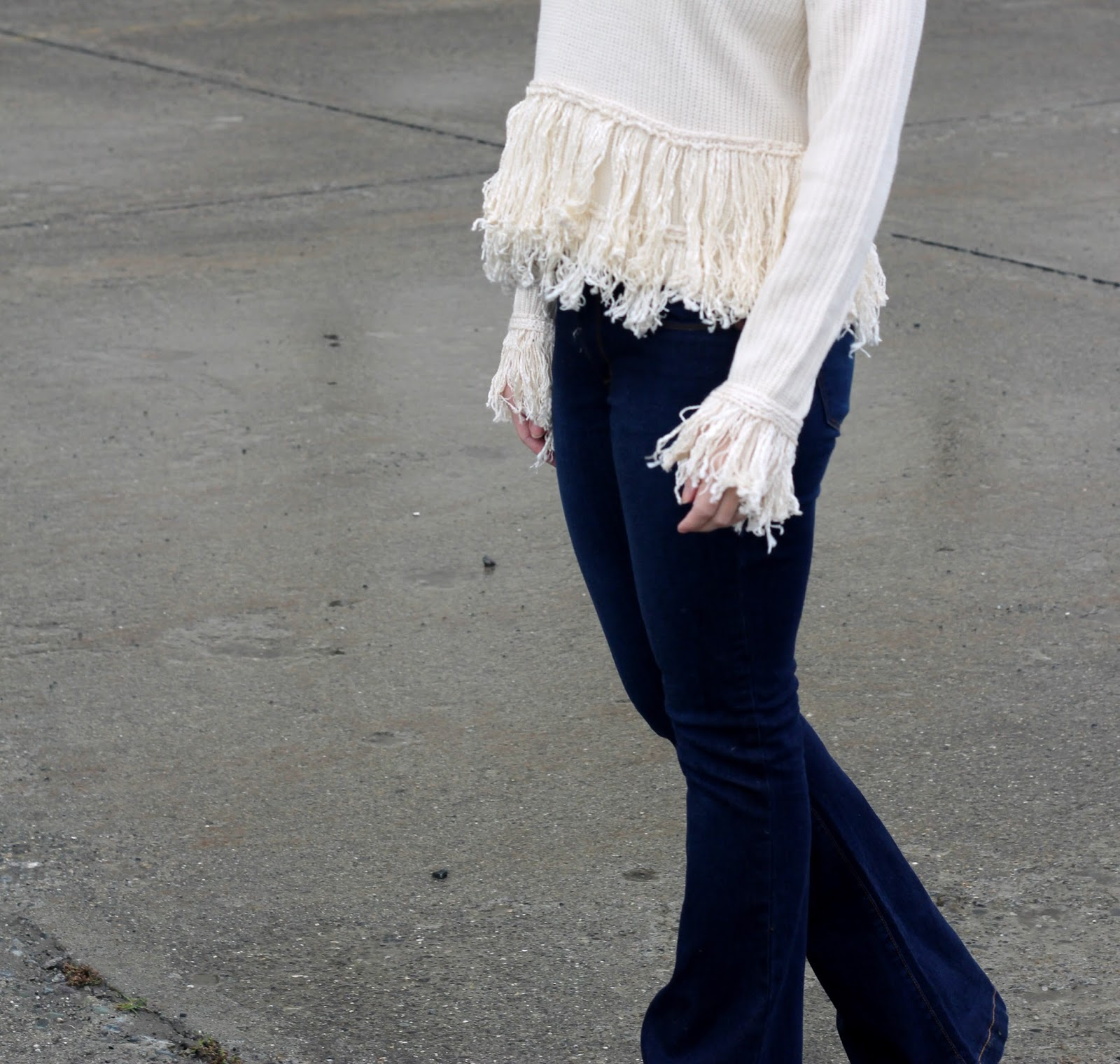fringe sweater for fall