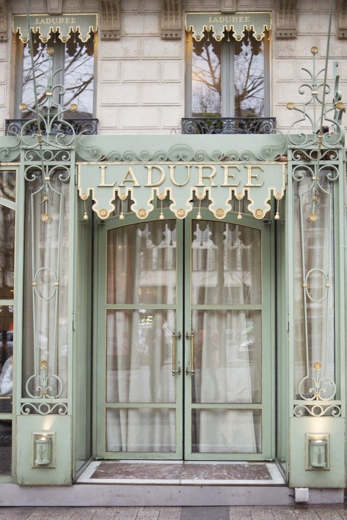 The celadon exterior of Ladurée