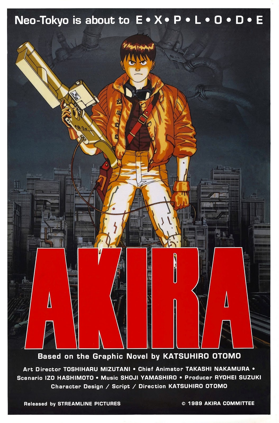 the geeky nerfherder movie poster art akira 1988