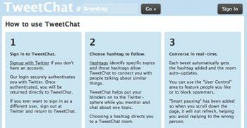 TweetChat, conoce gente en Twitter que habla lo mismo que tu