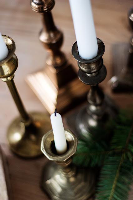 Kerzenständer  aus Messing, Flohmarktfund, vintage, Weihnachtsdekoration