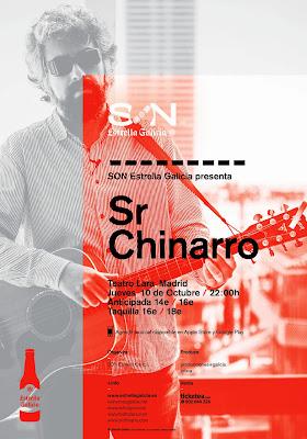 Sr Chinarro con SON Estrella Galicia en el Teatro Lara (Madrid) 10 de Octubre de 2013