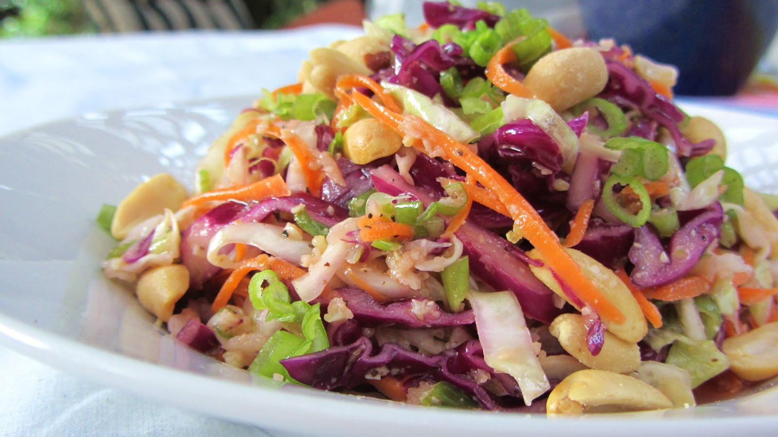 Let's eat.....simple!: Cabbage Slaw with Peanut-Lime Dressing