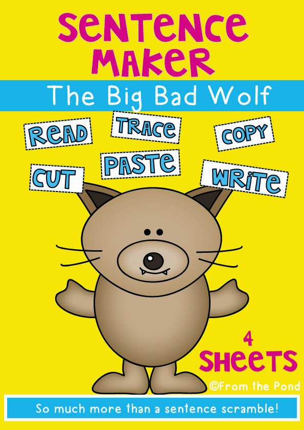 FREE Big Bad Wolf Writing Pages   From the Pond