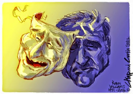 Sadness back of the mask