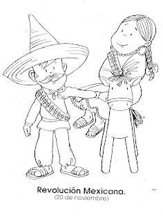 Dibujo de la Revolución Mexicana 20 de noviembre para imprimir