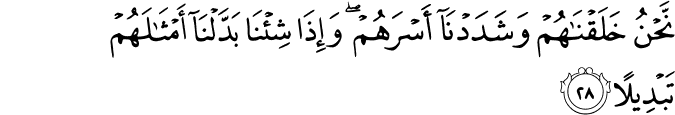 Surat Al-Insan Ayat 28