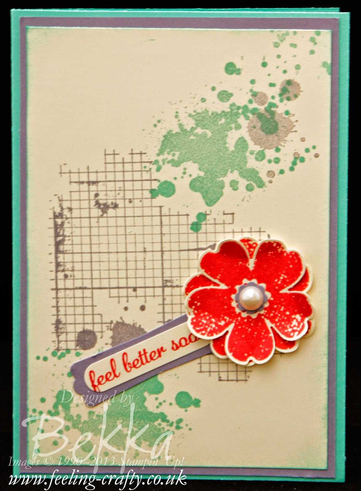 Get Well Soon Card featuring Flower Shop and Gorgeous Grunge Stamps from Stampin' Up!