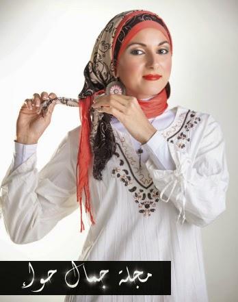 بالصور: لفة حجاب عملية وأنيقة