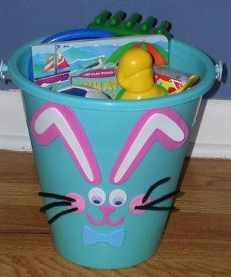 Canasta para Pascua hecha con una caja