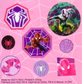 Stickers for McDonald's The Amazing Spider-Man 2 #4: Be Amazing Journal