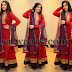 Nupur in Red Long Salwar