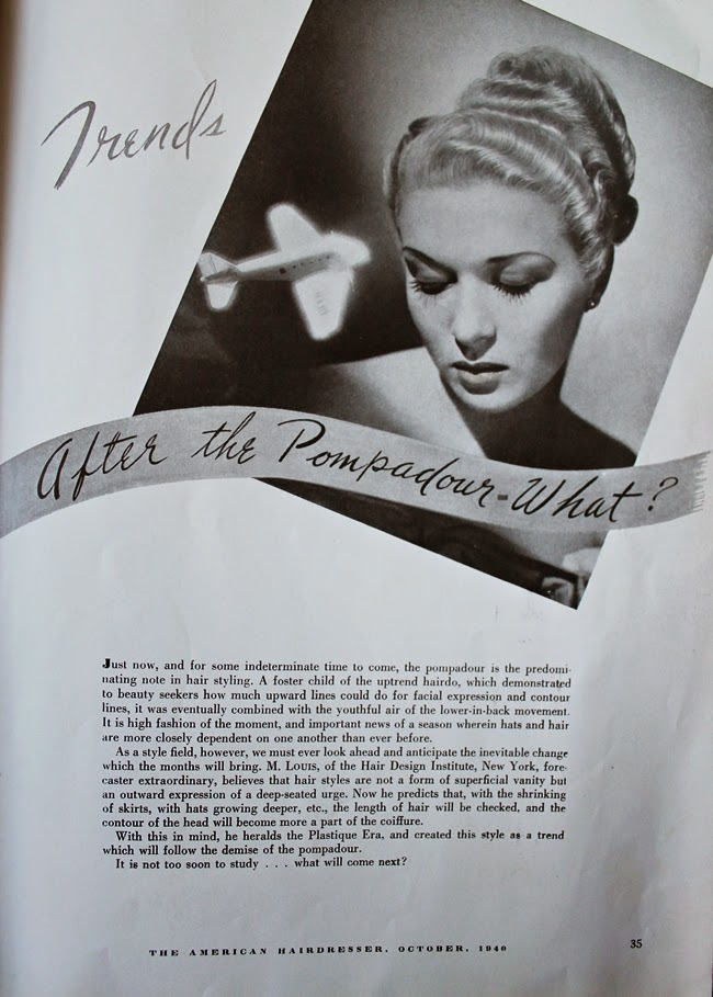 1940 american hair dresser magazine vintage pin curl hollywood waves