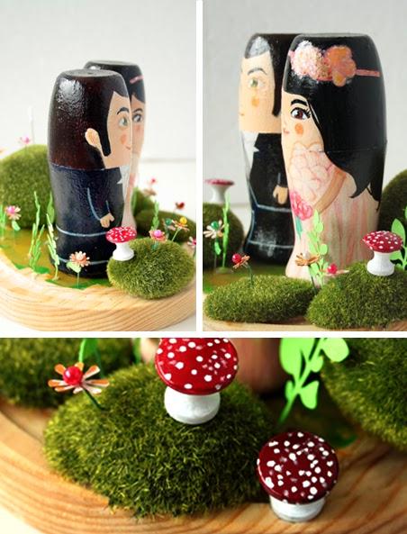 Muñecos para tarta de bodas/ figuras para pastel de boda por estherimenta