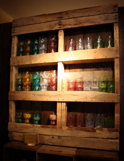 Repurposed Pallet Shelf