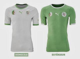 Le maillot de l'Algerie de la Coupe du monde 2014