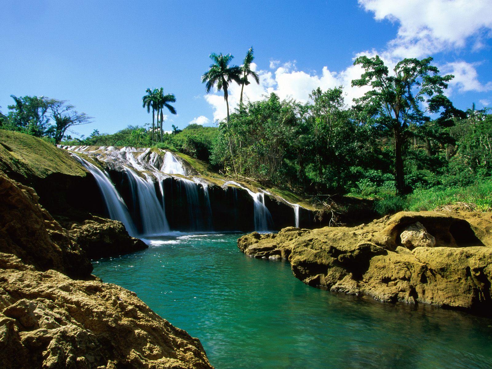 El Nicho Falls, Sierra de Trinidad, Cuba
