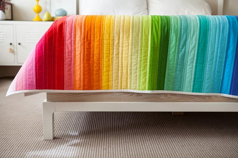 Olive And Ollie Rainbow Jellyroll Quilt For Creativebug