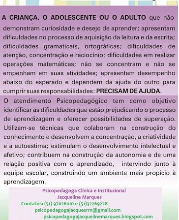 Reforço escolar,psicopedagogia,educação especial, alunos especiais, ensino fundamental,atendimento psicopedagógico