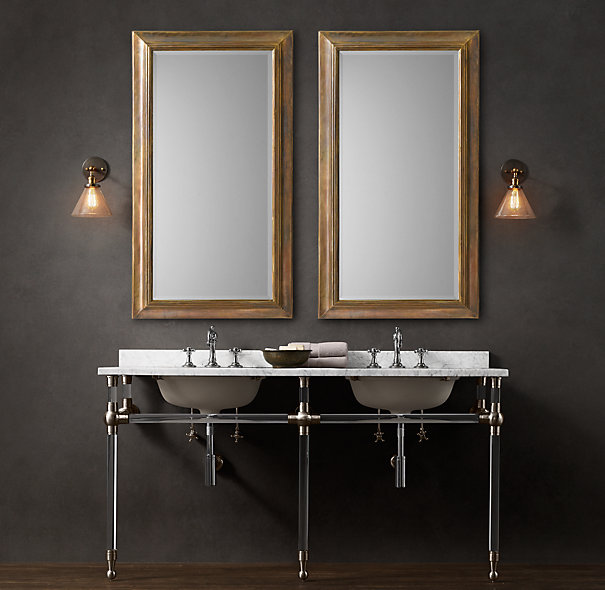 double pedestal sink