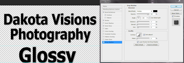 Step 6 - Text Effect Photoshop Tutorial: Glossy Glass Text #typography #dropshadow
