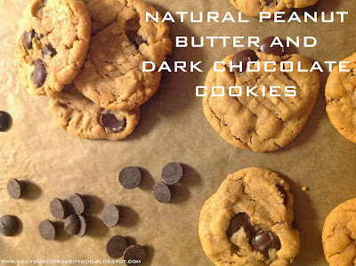 Natural Peanut Butter and Dark Chocolate Chip Cookies