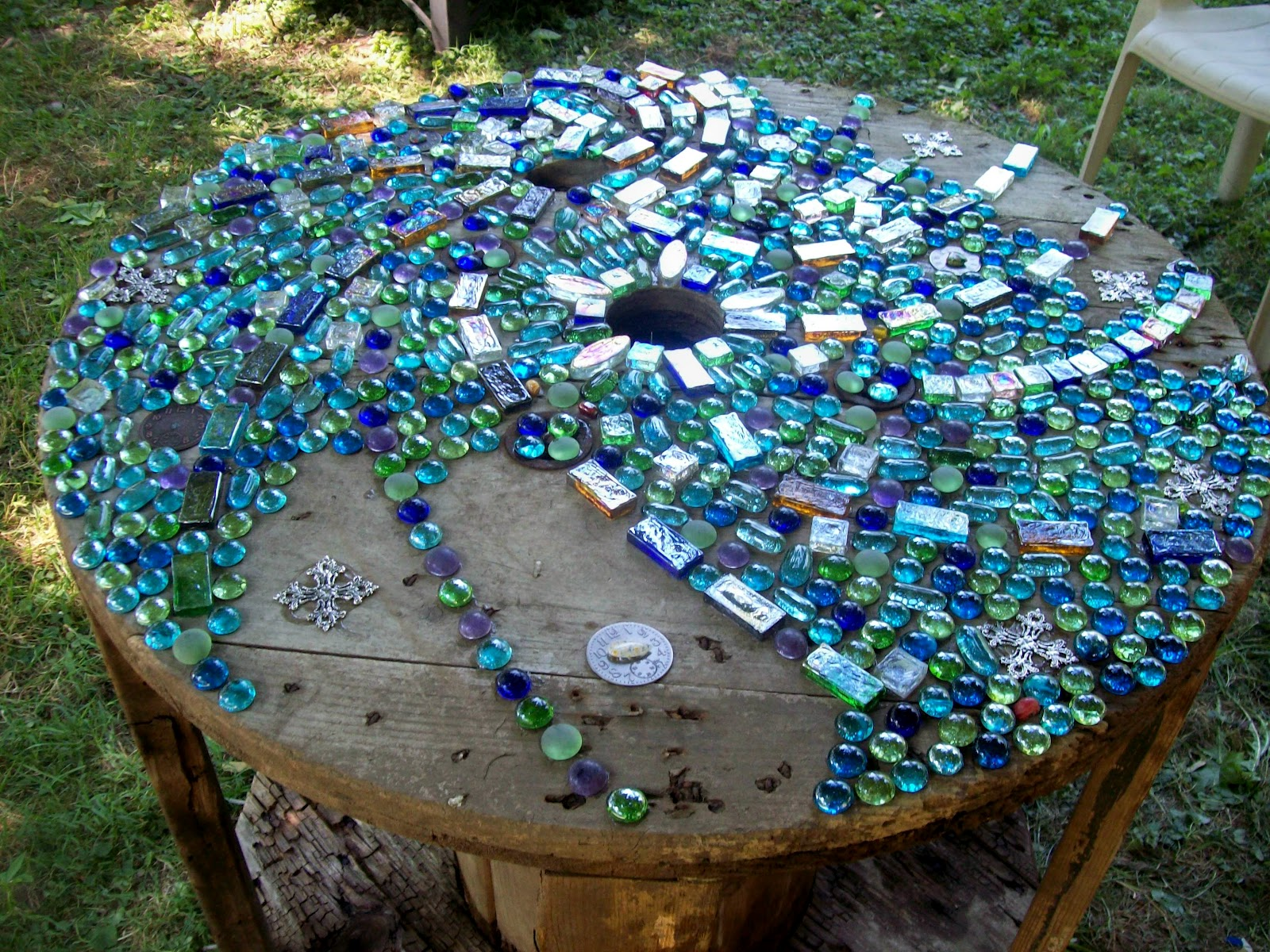 fun funky garden art series mosaic project colors of the rainbo