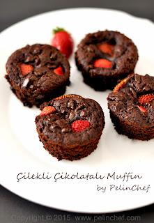 Çilekli Çikolatalı Muffin