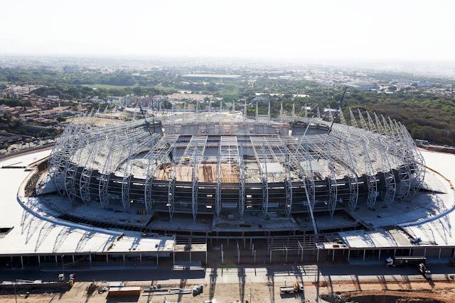 Arena Castelão é uma das mais bonitas da Capa de 2014