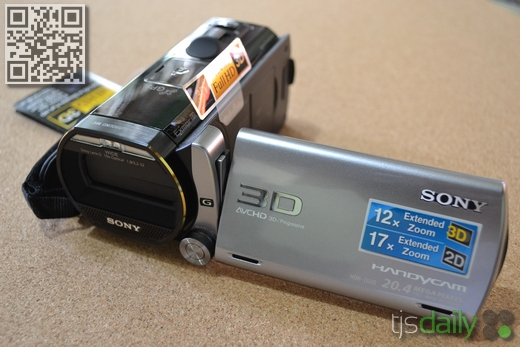 Sony Handycam HDR-TD20V Review Left View