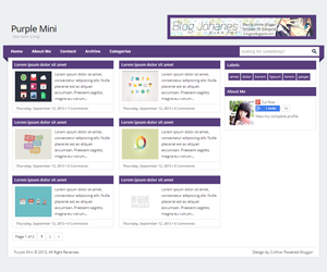 Purple Mini Blogger Templates