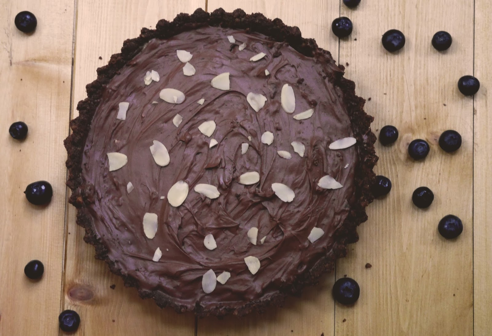 Lindt blueberry and dark chocolate tart