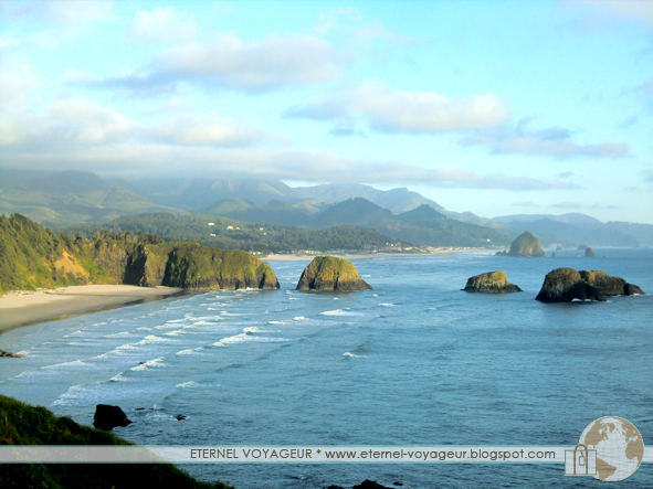 Haystack rock from Ecola State Park, Oregon