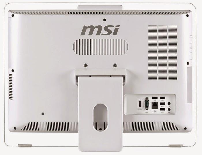 задняя сторона моноблока MSI AE200 5M